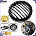 """5 3/4 """"CNC de Alumínio Da Motocicleta Farol Grill Capa Para Harley Sportster XL883/1200 04'-UP Softail Motos"""