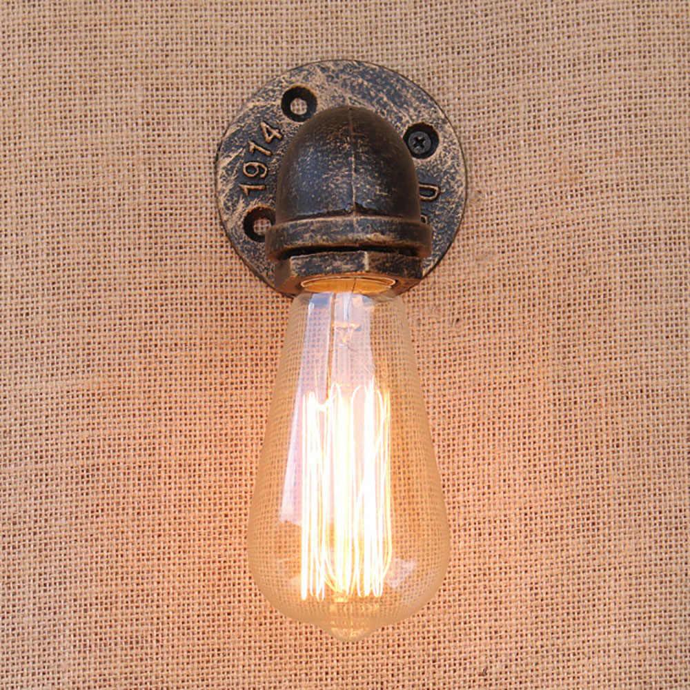 Лофт ретро металлическая водопроводная труба винтажная настенная лампа с Эдисоном/Светодиодная лампа E27 огни для кафе коридор спальни гостиной бара кафе
