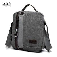 2017 High Quality Men S Fashion Business Travel Canvas Shoulder Bag Men S Messenger Bag 4