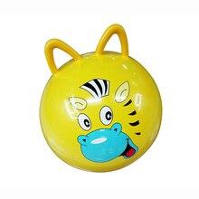 45 cm bola quicando toys saltar salto inflável dos desenhos animados de animais estresse yoga cuidados de saúde equilíbrio forma de orelhas de gato do brinquedo do pvc bolas