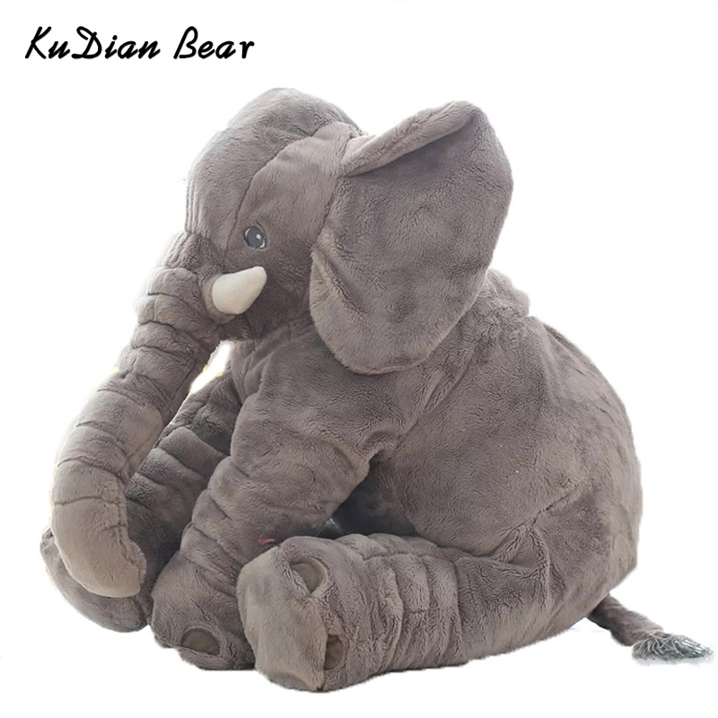 KUDIAN BEAR Fashion 60cm Baby Stuffed Animal Elephant Doll Plush Kids Toy For Children Room Bed for 0-12 Months BYC142 PT49 60cm fashion baby animal elephant style doll stuffed elephant plush pillow kids toy for children room bed decoration toys