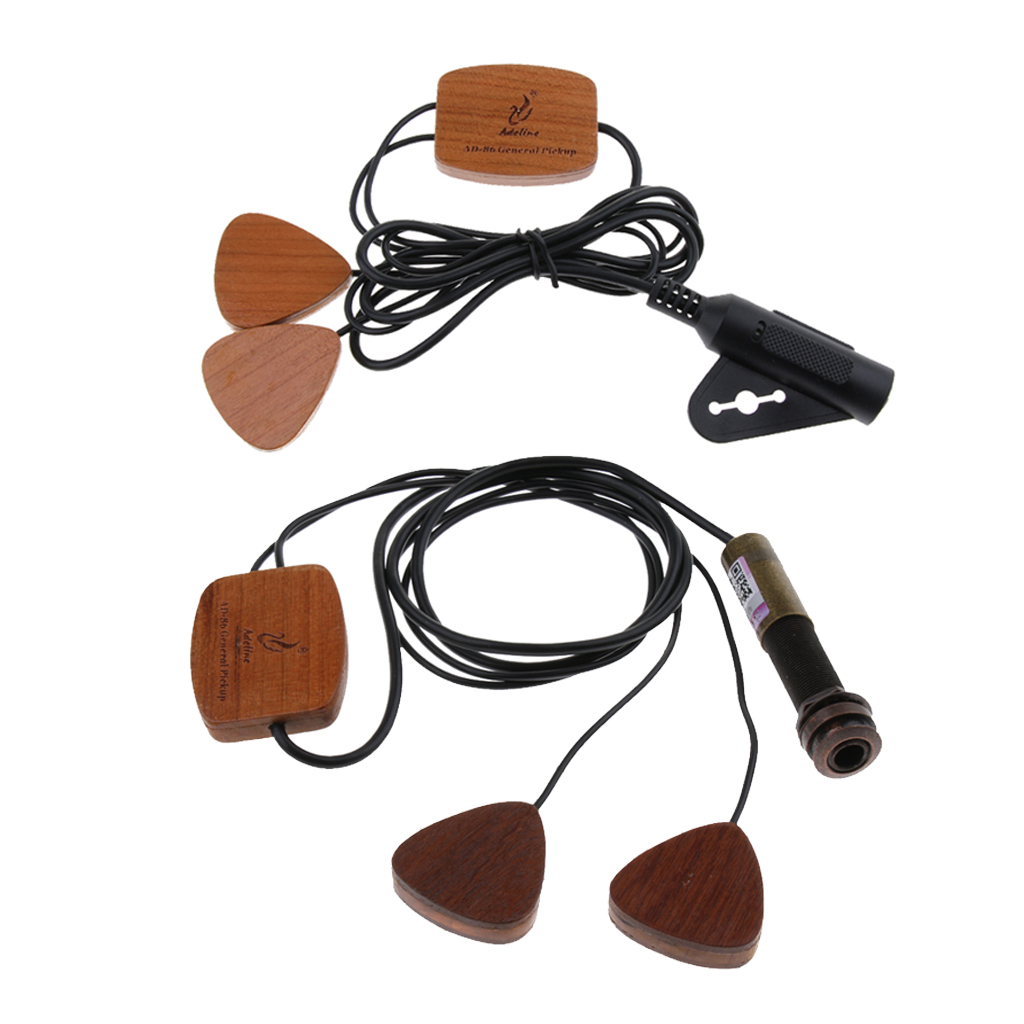 Adeline AD86 guitare classique pick-up avec 6.35mm Endpin Jack pour guitare ukulélé violon mandoline