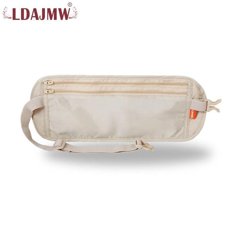 en venta en línea Excelente calidad excepcional gama de estilos € 6.1 20% de DESCUENTO LDAJMW hombres mujeres viaje cintura bolsa Invisible  bolsillo pasaporte tarjeta función riñonera bolsa de seguridad antirrobo ...