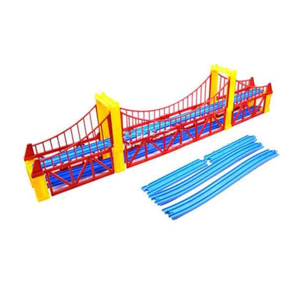 D1036 Electric Train Scene Accessories (Double Bridge +8 Straight Track+2 Climbing Track) Children's Toys