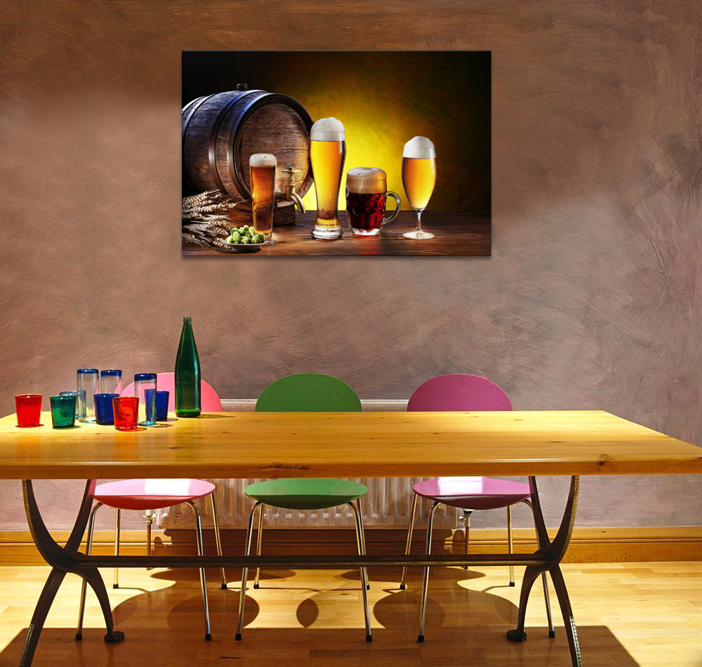 Visual Art Decor Bar Decoration Beer Picture Printed on Canvas HD ...