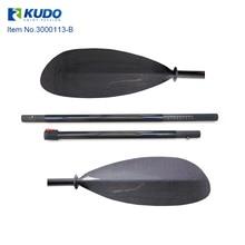 4-Piece Carbon Sea Kayak Paddle Sport-Line Carbon Fiber Blade 3K Carbon Shaft 10cm Adjustment with Free Bag
