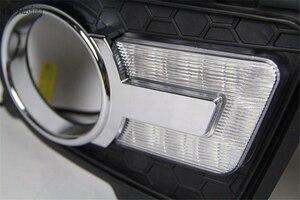 Image 3 - Car Flashing 1 set For KIA Sportage 2008 2009 2010 2011 2012 2013 12V LED DRL Daytime Running Light Daylight Fog lamp head light