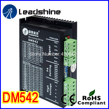 Leadshine DM542 2 Phase DSP Digital Stepper Drive with Max 48 VDC Input Voltage and Max 4.2 A Output Current GENUINE! leadshine dcs810 brushed servo drive with max 80 vdc input voltage and 20a peak current
