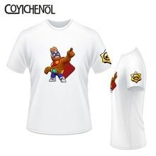Brawl stars customize print tshirt men Oversized modal tee short sleeves top large size tshirt regular casual solid color tee все цены