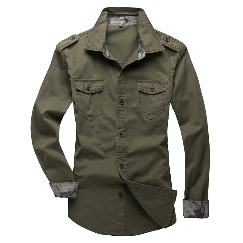 100% Cotton Military Shirt Men (12)