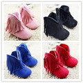 4 Color Toddler Faux Fleece Crib Snow baby Boots infant Woole pink beige Knit Shoes baby fringe boots Free shipping