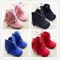 4 Faux Fleece Cuna bebé de la Nieve Botas de Niño de Color infantil Woole pink beige de Punto Zapatos de bebé botas de flecos Envío libre