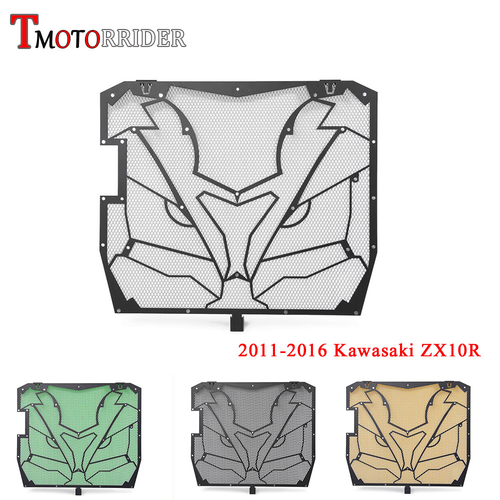 Stainless Steel Radiator Guard Grill Grille Water coolant Cover Protector for 2011 2016 Kawasaki ZX10R ZX10 R 2012 2013 20142015 in Covers Ornamental Mouldings from Automobiles Motorcycles