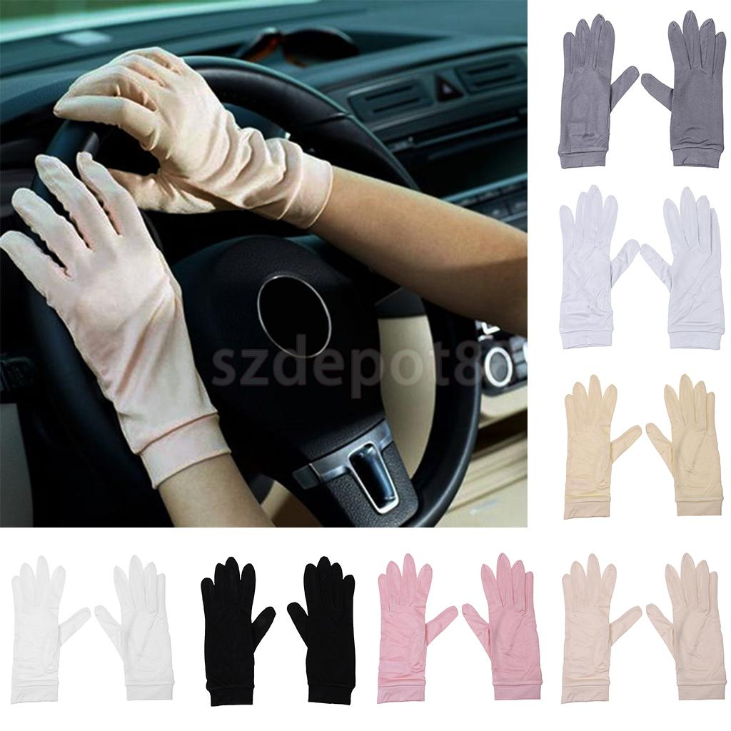 Phenovo Ladies Women 100% Silk Gloves Liner Inner Thermal Skiing Driving Cycling Party Gloves