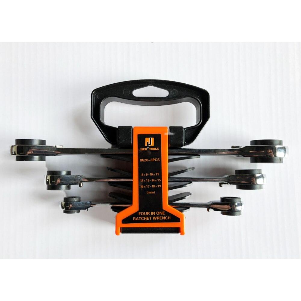 Ratchet Wrenches Set Keys 72T Ratcheting CRV Steel Full Polish A Set Of Reversible Multitool Rack Packed
