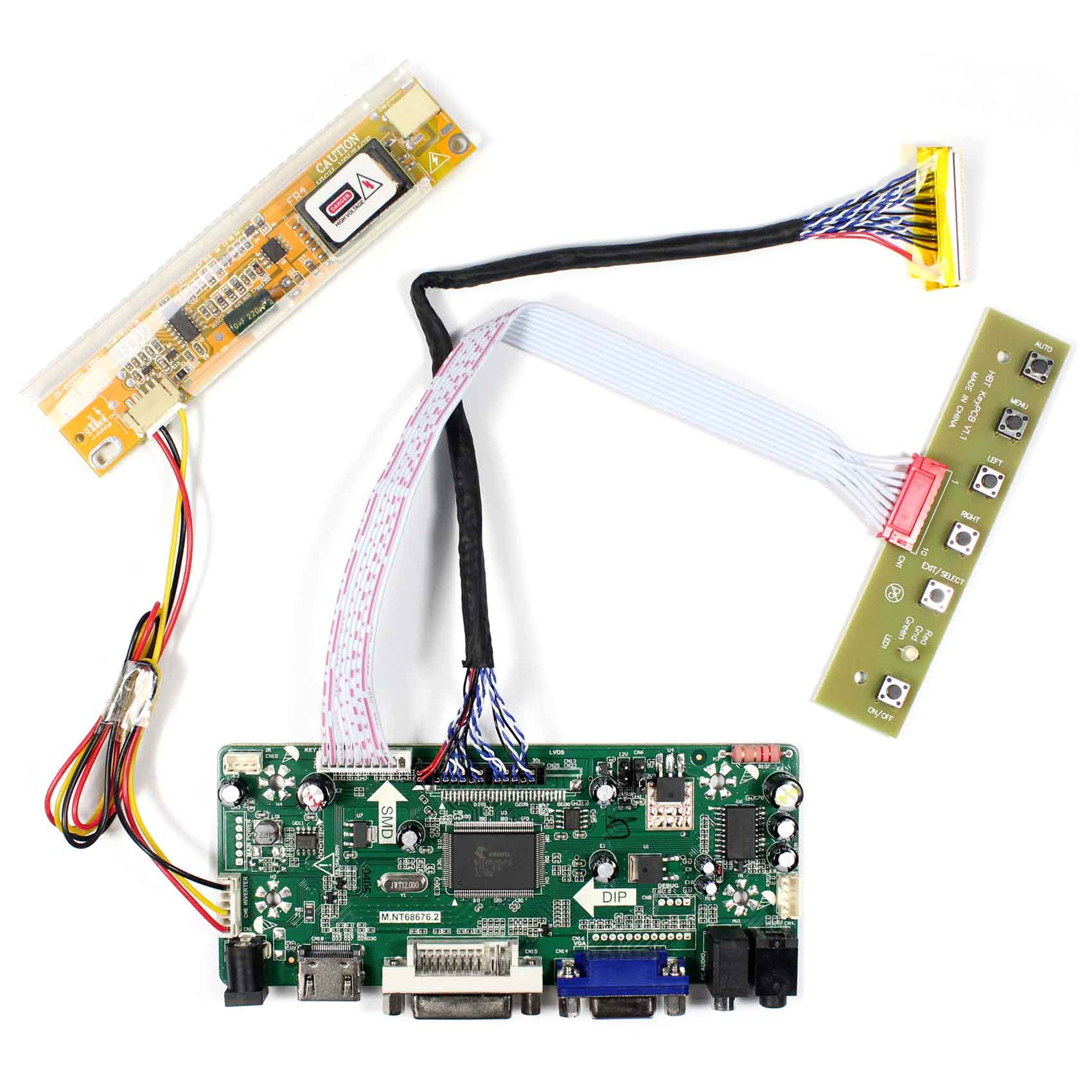 HDMI VGA DVI Audio LCD Controller Board For 17 B170PW03 B170PW06 LP171WP4 LTN170X2 1440x900 LCD ScreenHDMI VGA DVI Audio LCD Controller Board For 17 B170PW03 B170PW06 LP171WP4 LTN170X2 1440x900 LCD Screen