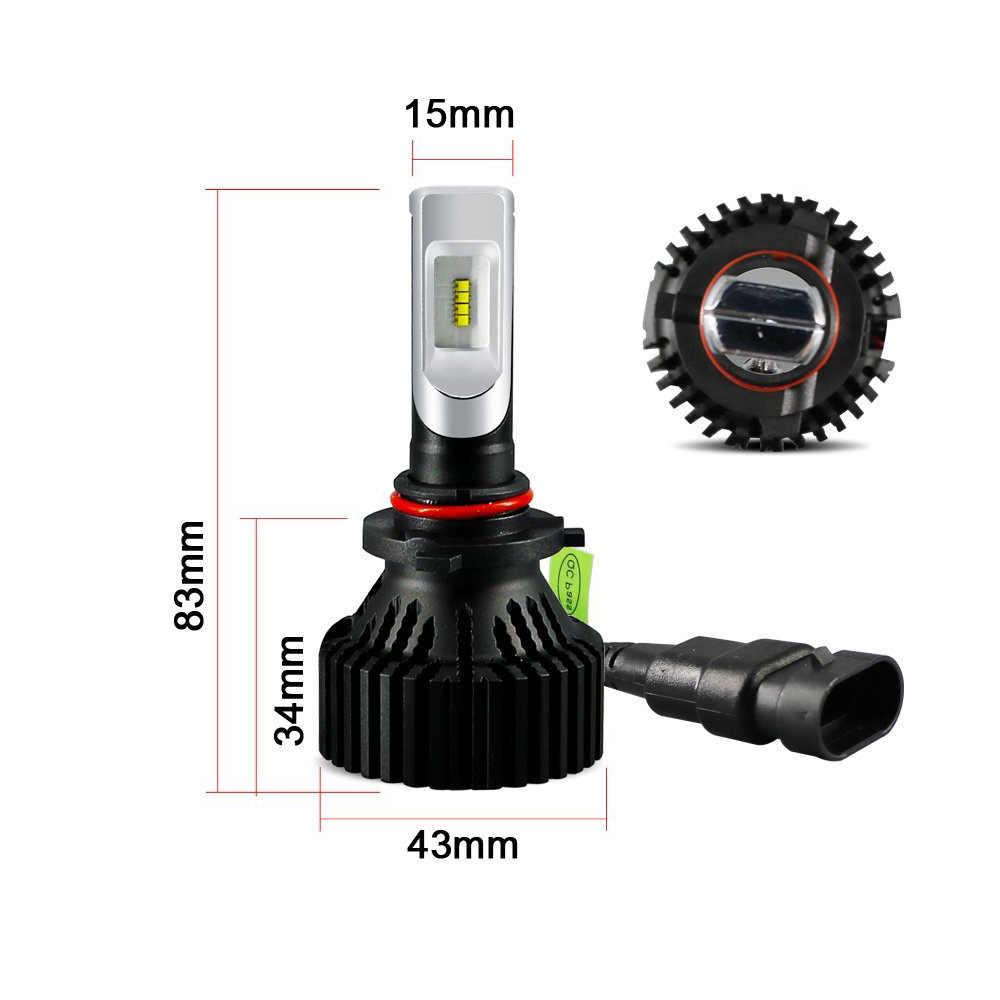 1 Pair ZES Lamp Beads H4 H7 H11 9004/9005/9006 Car LED Headlight Kit Headlamp Bulbs 8000Lm 6500K Auto Motorcycle Fog Light Bulb