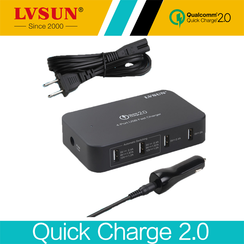 все цены на LVSUN 5V 2.4A 4 Ports 4in1 Universal USB Quick Charger 2.0 Car Adapter for Samsung Galaxy Note 4 Note 3 S3 S4 Smart Phone LS-Q4U