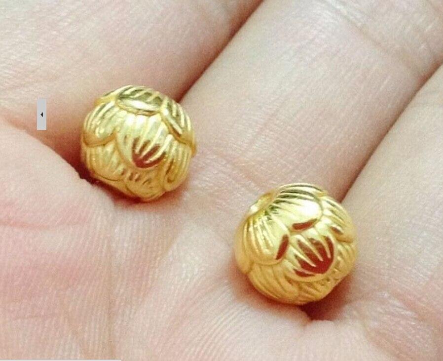 Здесь продается  Luxury Fashion  1pcs Pure 24K Yellow Gold Pendant / 3D Carved Elegant Lotus Pendant 0.7g  Ювелирные изделия и часы