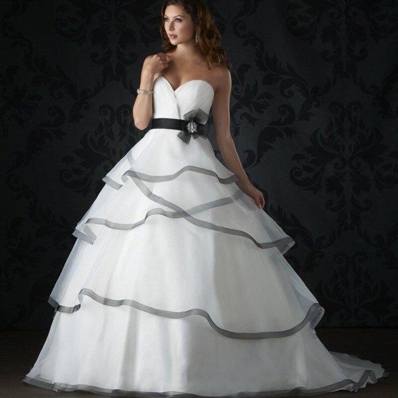 357fde3c1 2016 Nova Charme Querida vestido de Baile Vestido de Casamento Branco de  Tule Preto vestido de Noiva Robe de mariage vestido de noiva casamento  Vestido de ...