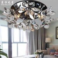 Luz de teto cristal lâmpada led flor iluminação interior sala estar quarto sala jantar decoração lustre