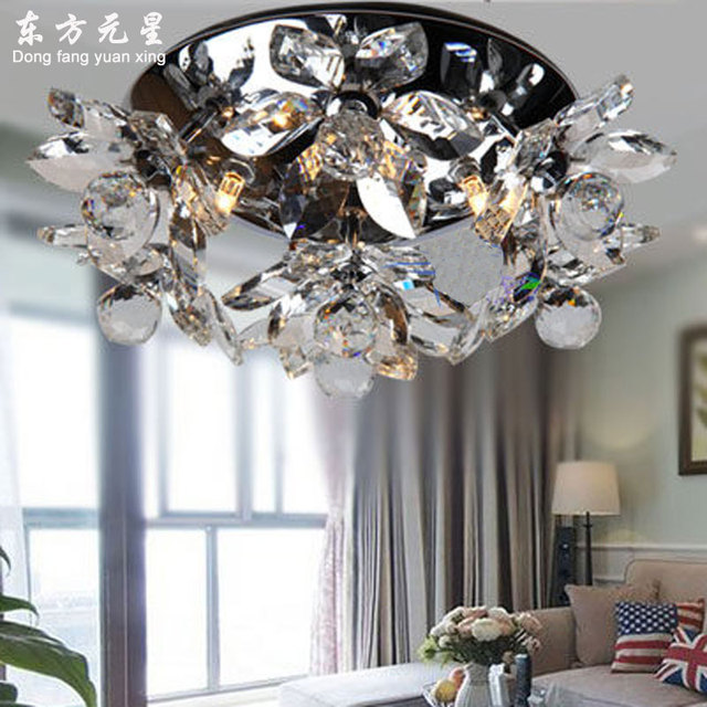 crystal ceiling light LED lamp flower crystal indoor lighting living room bedroom dining room  decoration lustre