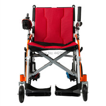 Free shipping lightweight 13kg long travel distance folding power electric power wheelchair for disabled