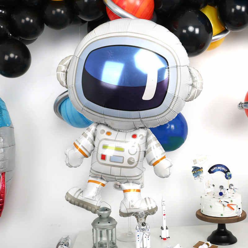 Космические вечерние воздушные шары астронавт, воздушные шары из фольги, тема галактики вечерние, для мальчиков, детский Декор для вечеринки в честь Дня рождения, сувениры, гелиевые шары