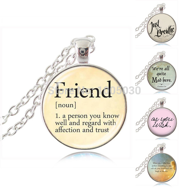 Letter friend necklace definition of friend pendant necklace words letter friend necklace definition of friend pendant necklace words necklaces jewelry glass silver chain neckless best mozeypictures Gallery
