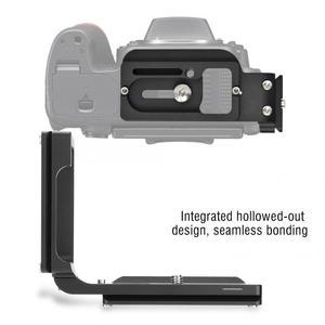 Image 3 - Liberação rápida qr l placa tripé suporte para nikon d750 câmera arca padrão plataforma tripé l suporte alça vertical
