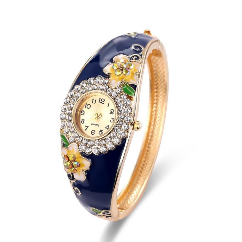 купить Cloisonne micro-bracelet bracelet watch fashion high-end diamond national fine exquisite jewelry watch for Girls Nice Gift недорого