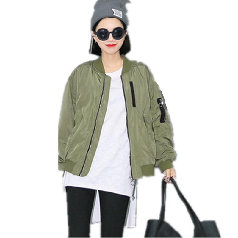 Primavera Otoño estilo Europeo estudiante delgada floja bomber jacket women casu