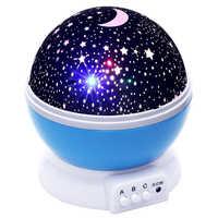 Lightme звезд звездное небо Led Ночник проектор светодиодные лампы Луна Новинка настольный ночник Батарея USB ночник для подарки для детей