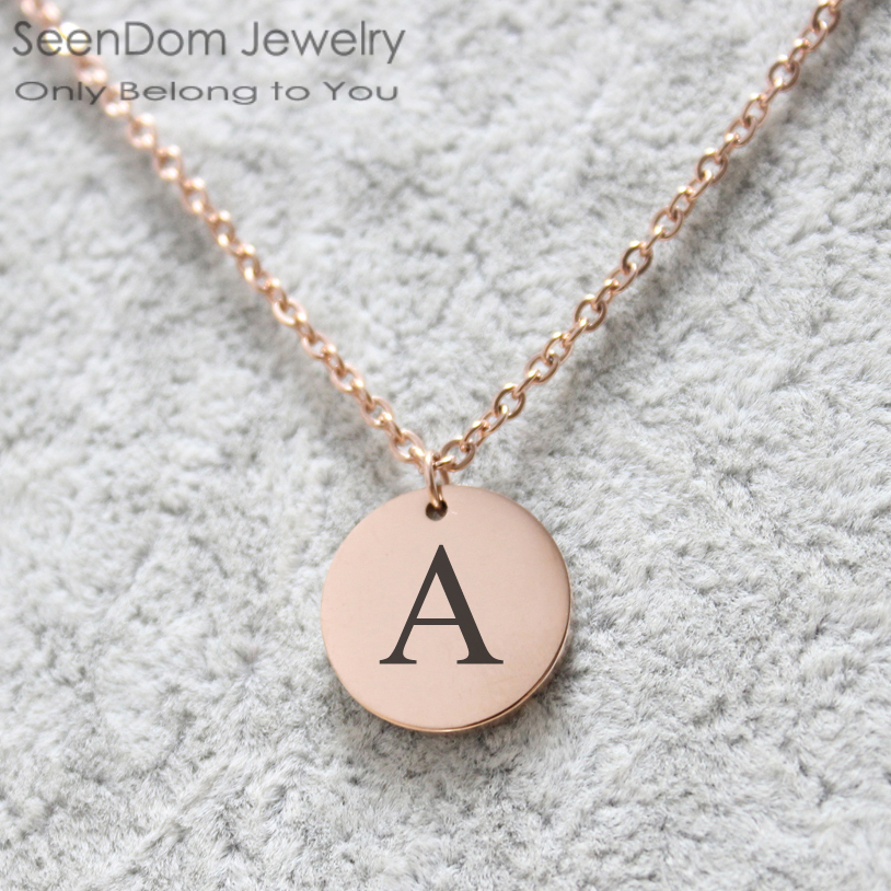 Custom Initials Name Engraved Chokers Necklace Initial