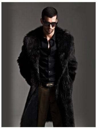 2018 Bargain Price Fake Fur Jackets Men Faux Mink Fur Coat Mink Overcoat Long Fur Outerwear Two Sides Wear Fur Jacket J143