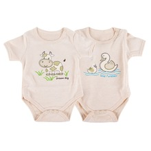2 pcs/lot Bodysuit for baby Clothes newborns 100% Organic Cotton unisex infant Onesies Suits body 0-12 months clothing