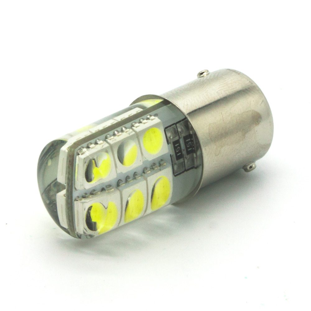1 PCS BA15S 1156 LED Lights 12 5050 SMD Silica gel DC 12V Car Rear Tail Parking Light Lamp s25 Bulb Cold White b8 5 smd 5050 0 3w 12lm white light car instrument lamp white dc 12v 2 pcs