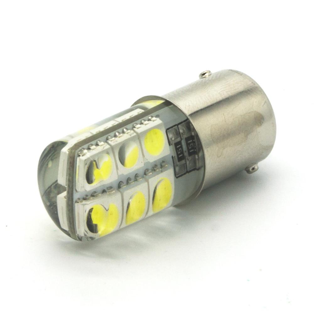 BA15S 1156 LED White Lights 12x5050 SMD Silica gel DC 12V Car Rear Tail Parking Light Lamp s25 Bulb 3156 12w 600lm osram 4 smd 7060 led white light car bulb dc 12v