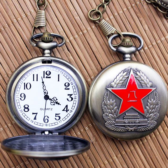 2018 Men Women Chairman MAO Necklace Flip Big Didital Pocket Watches Fashion Ant