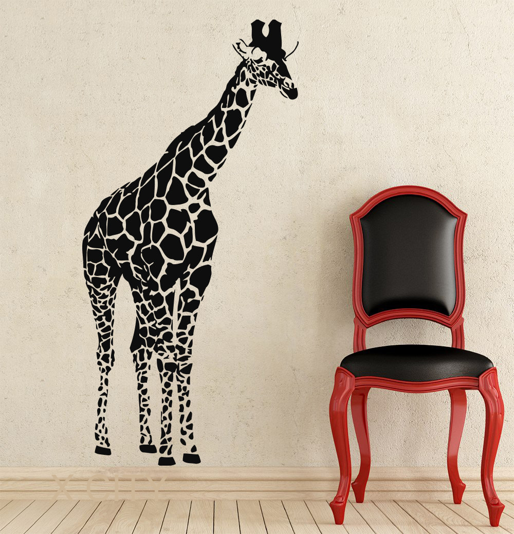 Giraffe African Animals Jungle Safari Wall Decals Tropical Vinyl Sticker  Living Room Decor Baby Kids Nursery Home Mural Stencil In Wall Stickers  From Home ...
