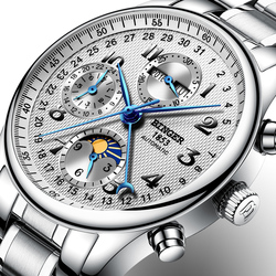 Switzerland BINGER watches men luxury brand Multiple functions Moon Phase sapphire Calendar Mechanical Wristwatches B-603-8