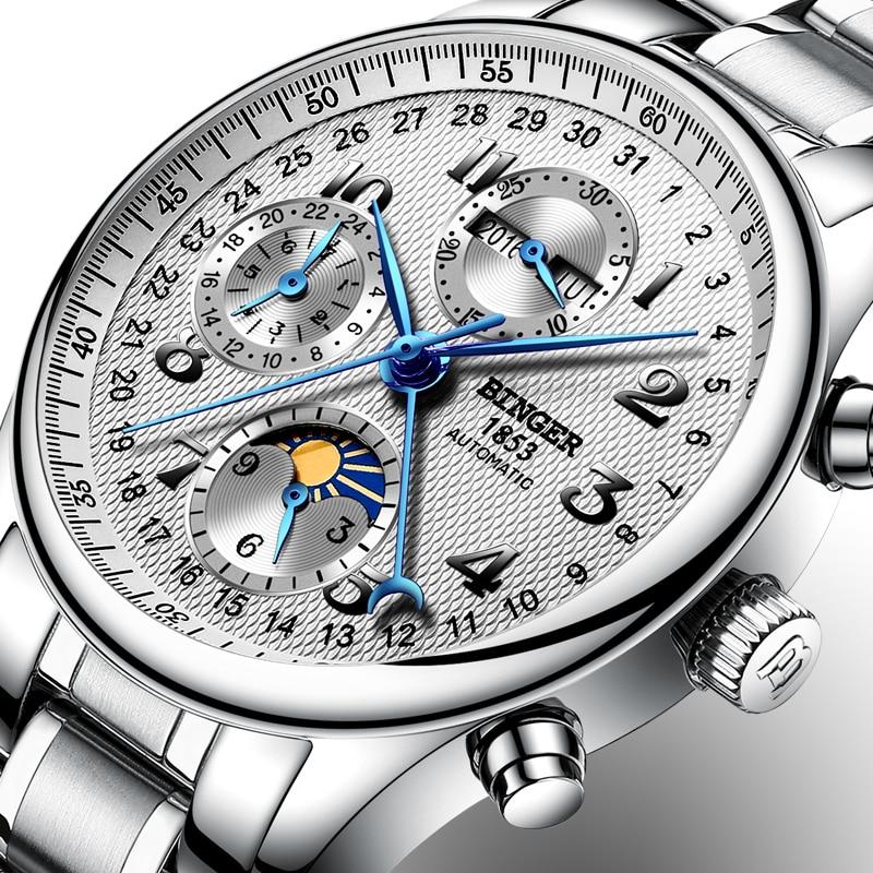 Svizzera BINGER orologi uomo marchio di lusso Funzioni multiple - Orologi da uomo
