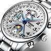 Switzerland BINGER Watches Men Luxury Brand Multiple Functions Moon Phase Sapphire Calendar Mechanical Wristwatches B 603