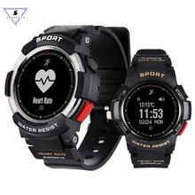 Купить с кэшбэком Ssmarwear F6 long standby Smartwatch IP68 Waterproof BT 4.0 Dynamic Heart Rate Monitor Smart watch For Android ios Smart Phone