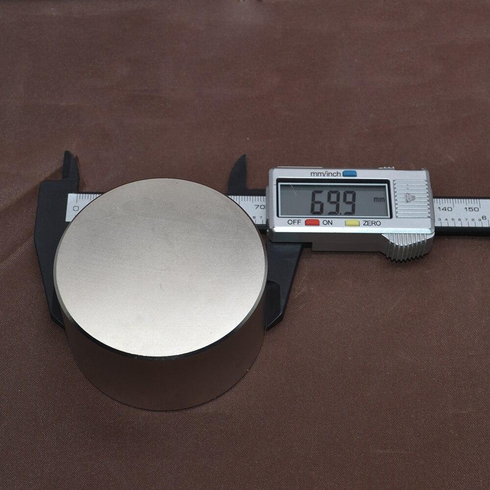 1 pièces N52 aimant néodyme 70x40mm métal gallium chaud super fort aimants ronds 70*40 puissants aimants permanents - 5