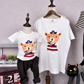 Caroon Bear Family T shirts Quality Cotton Summer Style Matching Mother and Daughter Father and Son Clothes Mommy and Me Clothes