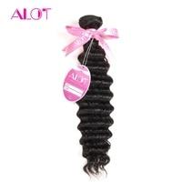 ALot Hair 1 Bundle Deep Wave Brazilian Hair Weave Bundles 100 Human Hair Extensions Non Remy