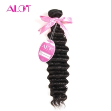 ALot Hair 1 Bundle Deep Wave Brazilian Hair Weave Bundles 100% Human Hair Extensions Non Remy Hair 8″-28″ Inch