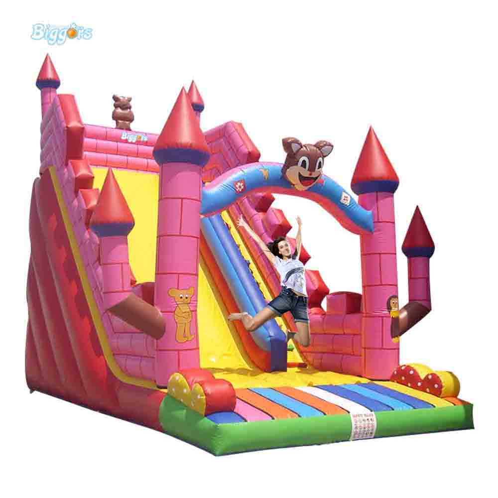 2016 Large Used Kids Size Inflatable Toys Castle Slide For Outside yard new large size inflatable slide and with area for kids to play bouncy castle amusement park