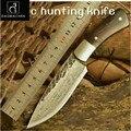 Envío Gratis cuchillo de caza Damasco cuchillo de acero nórdico cuchillo forjado a mano cuchillos afilados patrón de acero con alta dureza
